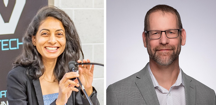 Sejal Davla, PhD, the study's lead author and Don van Meyel, PhD, senior scientist at the RI-MUHC.