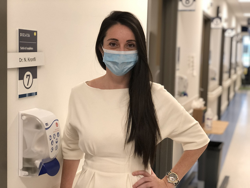 Dr. Nadine Kronfli, scientist in the Infectious Diseases and Immunity in Global Health Program at the Research Institute of the McGill University Health Centre (RI-MUHC)