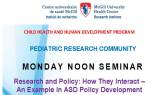 Pediatric Research Seminar (November 14, 2016)