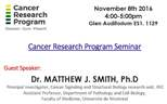 Cancer Research Program Seminar (November 8, 2016)
