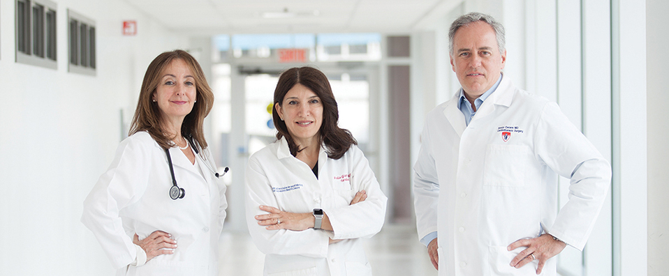 Researchers transforming cardiovascular care: Drs. Ariane Marelli, Nadia Giannetti and Renzo Cecere