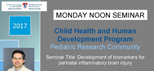 Pediatric Research Seminar (May 1, 2017)