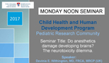 Pediatric Research Seminar (May 8, 2017)