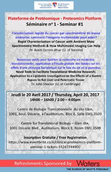 Proteomics Platform: Seminar #1 (April 20, 2017) - Research