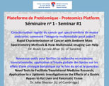 Proteomics Platform: Seminar #1 (April 20, 2017)