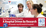 More than a research hospital, a hospital driven by research