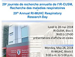 29th Annual RI-MUHC Respiratory Research Day (May 28, 2018)