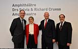 Amphitheatre of the Research Institute of the MUHC officially named after Drs. Sylvia and Richard Cruess