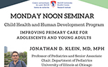 Pediatric Research Seminar (April 16, 2018)