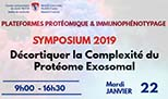 Symposium 2019 - Unraveling Complexity of the Exosomal Proteome (January 22, 2019)