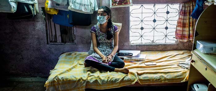 A young tuberculosis patient in India, the country that has the largest number of TB cases in the world.