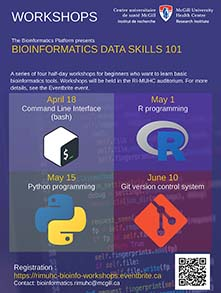 Bioinformatics Data Skills 101 (April 18, May 1, May 15, June 10)