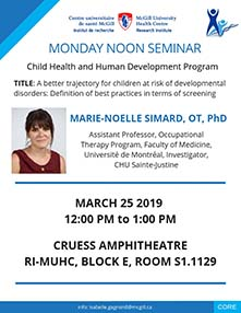 Pediatric Research Seminar (March 25, 2019)