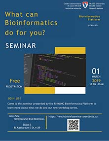 Seminar - What can Bioinformatics do for you? (March 1, 2019)