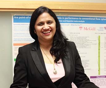 Dr. Nitika Pant Pai is a member of the Infectious Diseases and Immunity in Global Health Program at the Research Institute of the MUHC, where she also conducts research at the Centre for Outcomes Research and Evaluation.