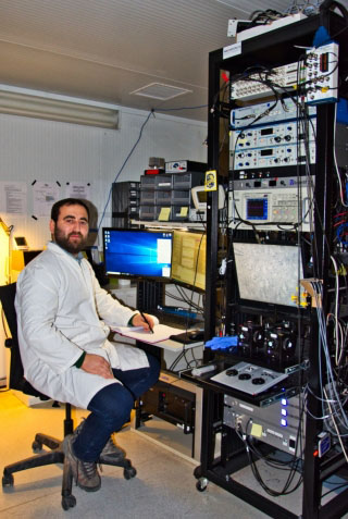 Using laser light to study how epilepsy arised in the healthy brain: Elvis Cela, doctoral student in the Brain Repair and Integrative Neuroscience Program at the Research Institute of the MUHC