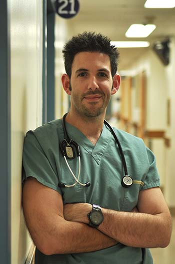 Dr. Brett Burstein, lead author of the study, is a pediatric emergency room physician at the Montreal Children's Hospital of the MUHC. Credit: MUHC Foundation