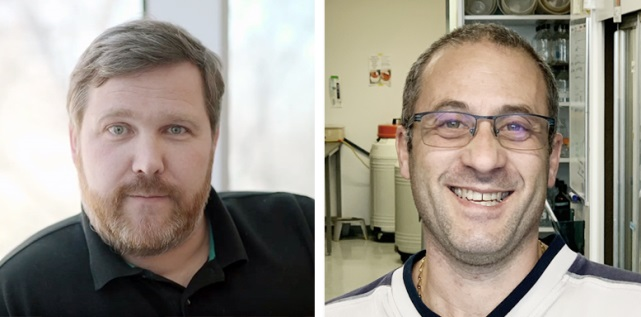 Peter Siegel, PhD (left), member of the Research Institute of the MUHC and Goodman Cancer Research Centre, and research associate Sébastien Tabariès