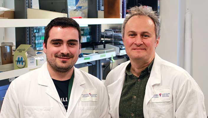 "Dr. Erwan Pernet and Dr. Maziar Divangahi, scientists at the RI-MUHC, have identified a lipid target to ""tone down"" the hyper-active immunity to influenza infection."