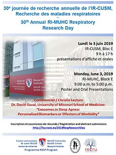 30th Annual RI-MUHC Respiratory Research Day (June 3, 2019)