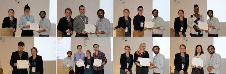 Presentation winners at the 2019 Infectious Diseases and Immunity in Global Health Program Research Day at the Research Institute of the MUHC