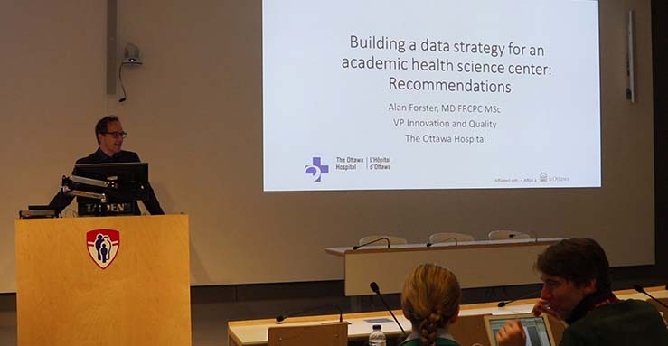 Dr. Alan Forster from the Ottawa Hospital was an invited speaker at the third Annual Research Day of the Centre for Outcomes Research and Evaluation at the Research Institute of the MUHC (May 14, 2019)