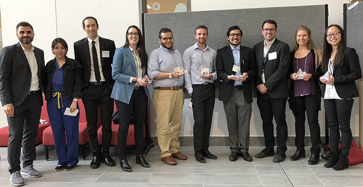 The Scientific Committee and prize winners at the 17th Annual McGill Cardiovascular Research Day on May 29, 2019, left to right: Dr. Jonathan Afilalo, Dr. Negareh Mousavi, Dr. Michael Goldfarb, Elizabeth Hillier, Ahmad Mahmoud, Brandon Shokoples, Ahmer Wali, Louis Doré-Savard, PhD, Mary Hoekstra, Hao Yu Chen