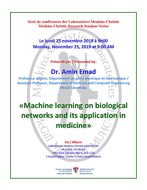 Meakins-Christie and RESP Program Research Seminar (November 25, 2019)