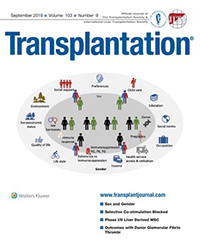Cover of Transplantation, September 2019