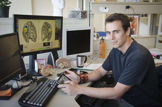 Simon Clavagnier, a young researcher fascinated by thought and human perception
