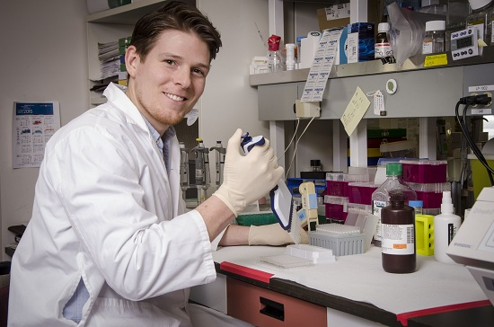 A means to an end:  PhD research student Steven Jones aims for career in public health