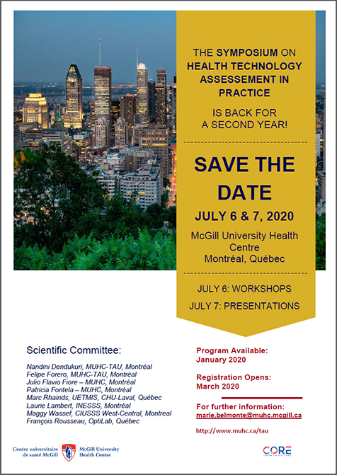 Symposium on Health Technology Assessment in Practice (July 6 & 7, 2020)