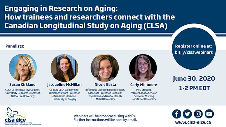 Engaging in Research on Aging: How trainees and researchers connect with the CLSA